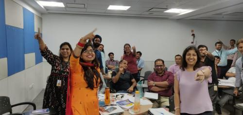 Session on Emotional Intelligence at Fiserv, Delhi